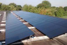 Zonnepanelen en boilers voor de gondel Lelystad